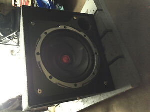 "12"" Kenwood Subwoofer in box"