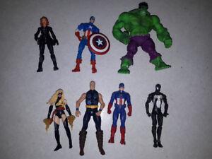 Avengers/Fantastic Four/Spiderman action figures
