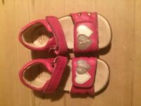Girls Clarks Sandals. Size 6.5