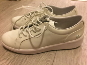 NEW: Women's Lacoste Rochelle Lace Leather Sneakers (size 6.5)