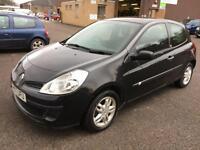 5707 Renault Clio 1.2 16v 75 TomTom Black 3 Door MOT 12m