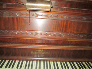 Exquisite Heinzman Upright Grand Piano -Real Ivories -FREE