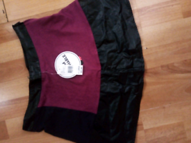 Women's brand new swede and leather skirt