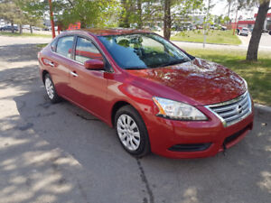 2013 Nissan Sentra, 4 dr, 6 speed, loaded, only 79,000 km.