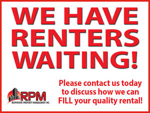 PEI LANDLORDS: We Have Tenants Waiting & Need Quality Rentals