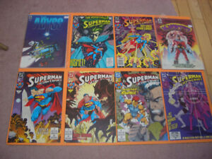 LOT OF 25 SUPERMAN AND OTHER COMICS FOR SALE