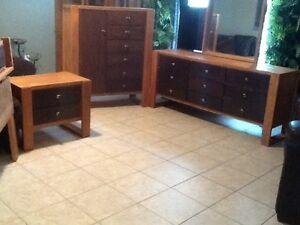 4 piece SOLID OAK Bedroom Set(armoire dresser)