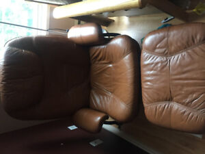 FREE Brown Leather Recliners with Footrest and Futons!
