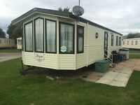 Caravan for hire on Presthaven beach resort