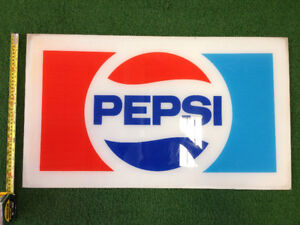 1970s Pepsi Vending Machine Sign and Tabs