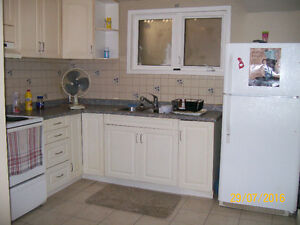 Lovely, bright one bedroom basement apartment
