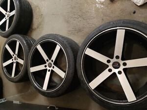 """Mags bmw 20"""" pouce gloss black machined face"""