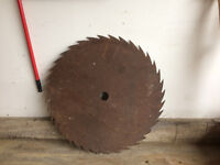 Old saw mill blade Moncton New Brunswick Preview