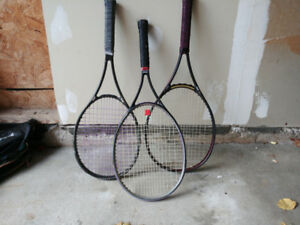 Tennis rackets and tennis bags