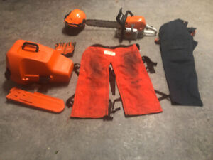 STIHL MS 311 chainsaw and accessories