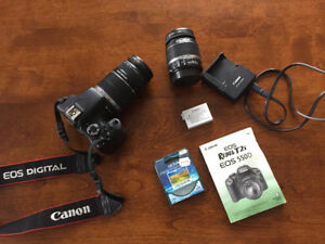 Canon EOS REBEL T2i - EOS 550D- with 2 lens'