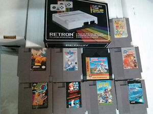 New and sealed Retron (lets you play NES games) and 9 Nintendo v