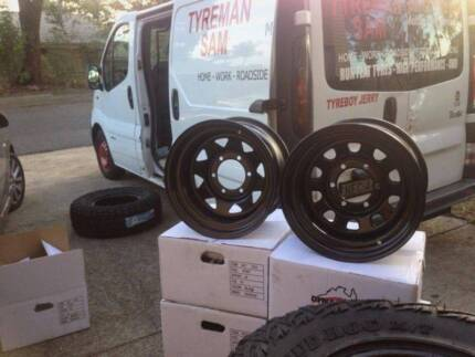 15x8 16x8 17x8 Sunraysia, Dynamics, King Wheels. WE COME TO YOU !