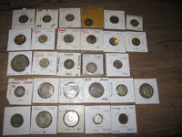 Group of 28 Silver, old World Coins 1800s-1960s