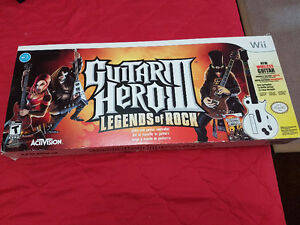 Nintendo Wii Guitar Hero 3 Legends of Rock bundle