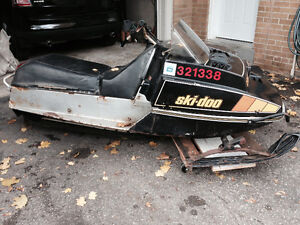1979 Ski Doo Citation  and Utility Sleigh