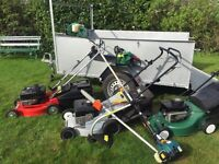 All steel trailer 7x5' chainsaw 3x lawnmower pole saw strimmer hedge trimmer gardening trailor mower