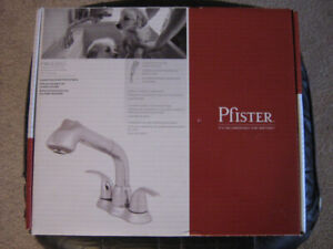Faucet Laundry Pullout Pfister Stainless Steel Model FWU220CC