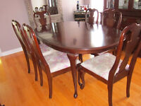 ***NEW PRICE*** - Solid Cherry Wood Dining Room Suite
