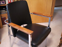 Walnut office style chair  Excellent Condition