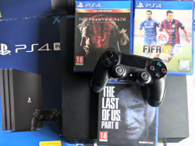 PS4 Pro 1TB 3 Games 1 Controller Playstation 4 Gaming Console