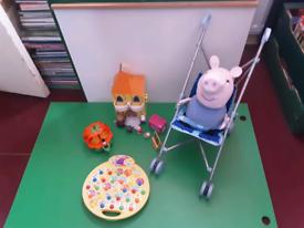Peppa pig castle ,pumpkin vehicle, activity, buggy&George.