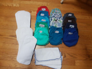 Apple cheeks cloth diapers lot