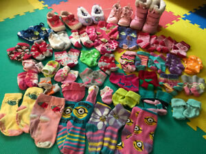 Baby Girl Shoes size 5-6 and Socks 0-24Months