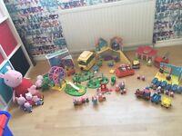 Huge bundle of peppa pig toys