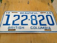 1968 BC licence plate.