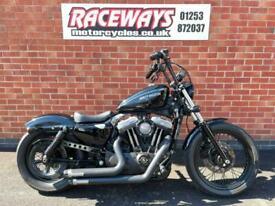 HARLEY-DAVIDSON XL1200N NIGHTSTER 2012 12 REG 14,887 MILES BLACK USED MOTORCYCLE