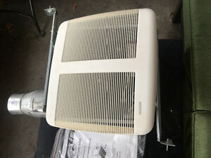 BRAND NEW BATHROOM VENTILATION FAN w reducer and instructions