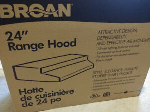 "Brand New Broan 24"" Stainless Steel Range Hood"