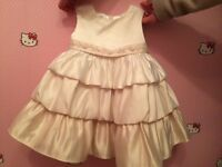 Baby dress in 3 colours excellent for christening or wedding- baby girl
