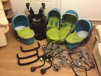 Candy Peach Blossom Sweetpea double / twin pushchair ideal for twins