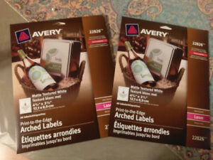 Avery Print-to-the-Edge Arched Labels 22826 - Wine Labels