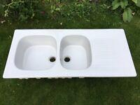 Vintage ceramic sink with drain board butler/belfast style