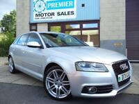 2011 AUDI A3 2.0 TDI S LINE SPORTBACK, 1 PREVIOUS OWNER, £30 A YEAR ROAD TAX!
