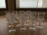 Crystal d'Arques goblets