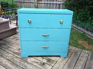 Beautifully re-furbished dresser!