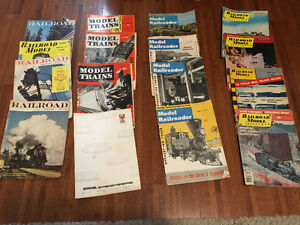Railroad / Model Train Magazines - 1950's-60's