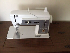 1960's Singer sewing machine within desk