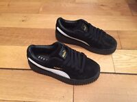 Creepers Puma Rihanna Black Unisex Shoes Girls Womens Footwear Trainers