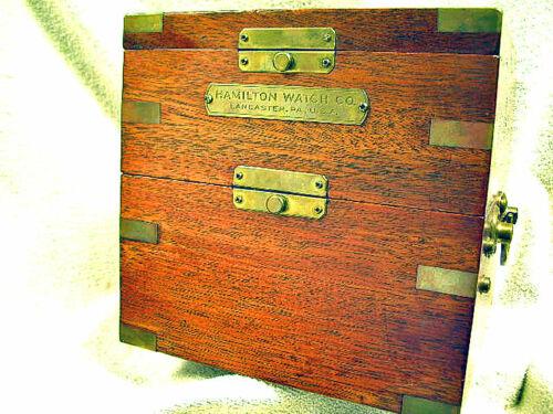 Vintage WW2 Hamilton Model 21 Fusee Ships Chronometer 100% All Orig. Serviced !!