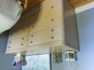 6 drawer dresser, nightstand and single headboard